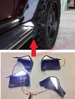 Заканцовки оригинальных заводских порогов с LED, светодиодной подсветкой