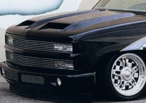 Капот с ноздрями на Chevrolet