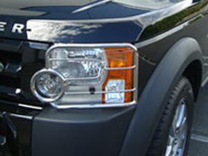 Металлическая защита передних фар на Land Rover