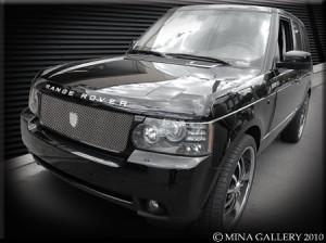 Хромированная решетка радиатора на Range Rover